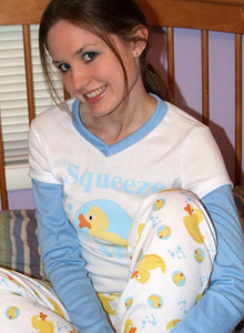 Cute Teen Shelby Strips Out Of Her Pajamas And Waits For You - Picture 3