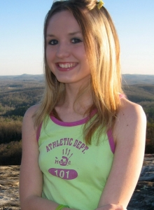 Perky Teen Shelby Flashes Her Perfect Tits While On Top Of A Mountain In A Public Park - Picture 1