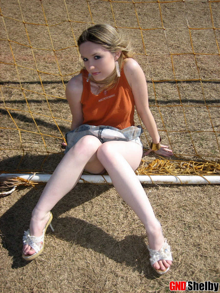 Cute Petite Teen Shelby Flashes Her Perky Tits Outdoors At The Public Park - Picture 11