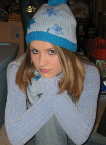 Watch As Shelby Strips Out Of Her Winter Clothes For The Camera - Picture 1